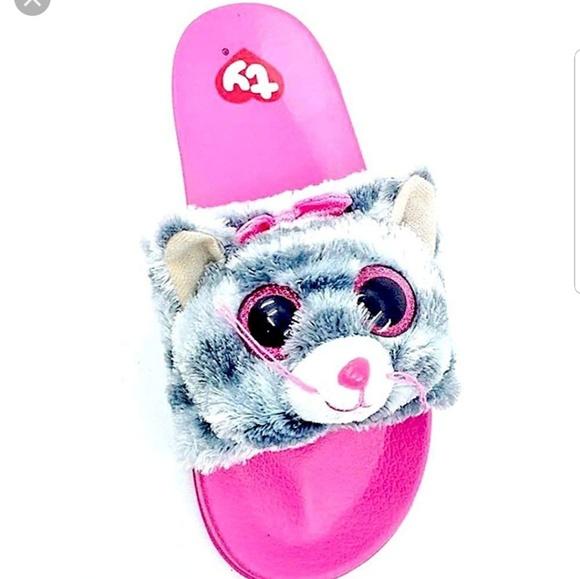67c9e7015ba ty beanie boo s kiki cat slide on sandle